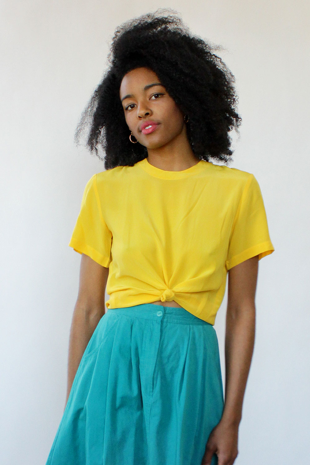 Sunflower Silk Tee S
