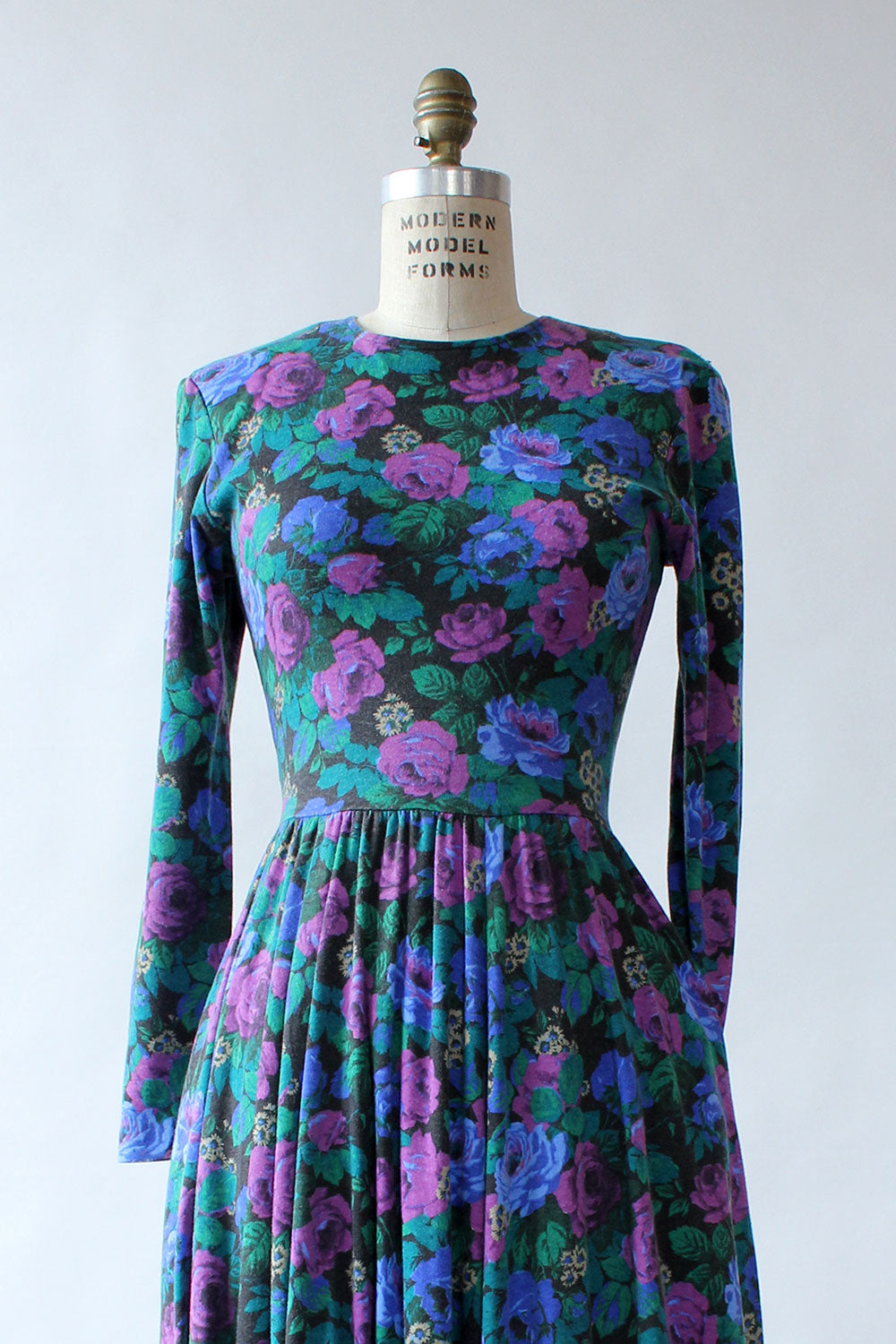 Moody Floral Flare Dress S/M