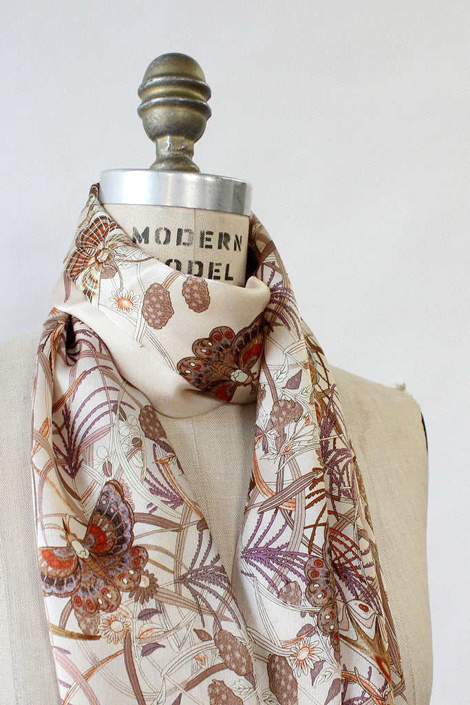 Mystical Moth Silk Scarf