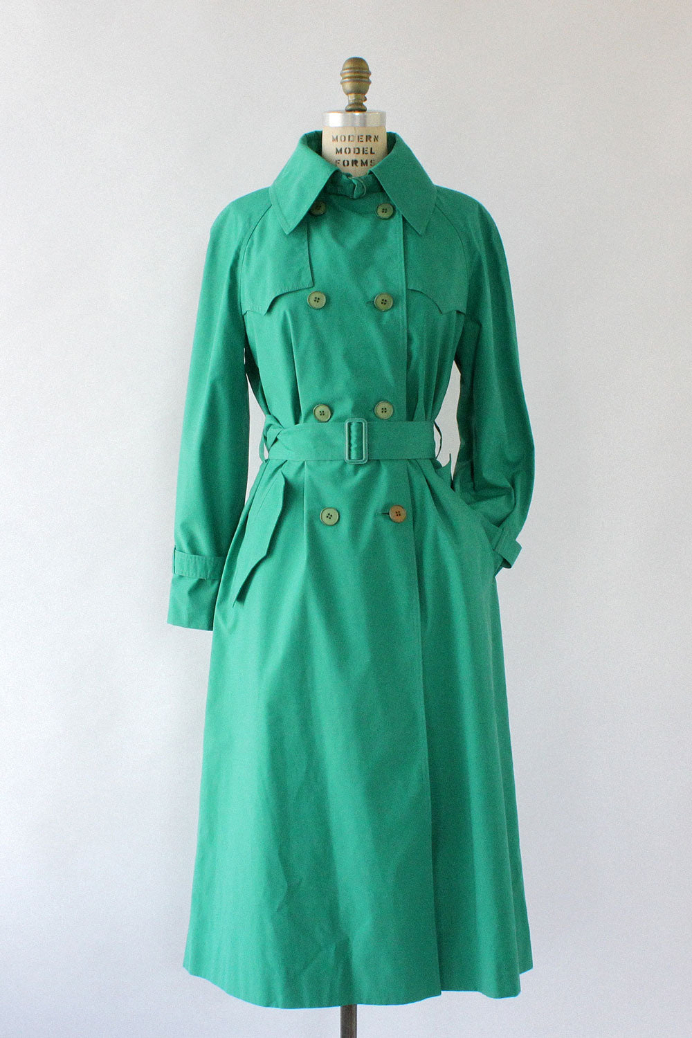 Clover Green Trench Coat M/L