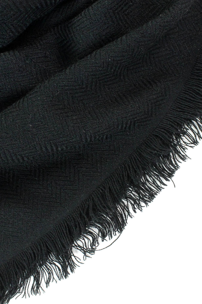 black scarf wrap