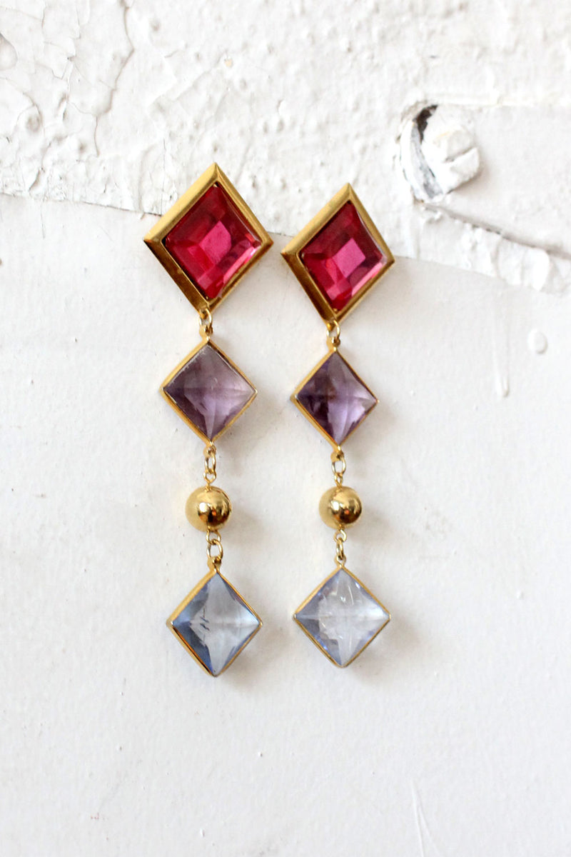 Gem Dangle Earrings