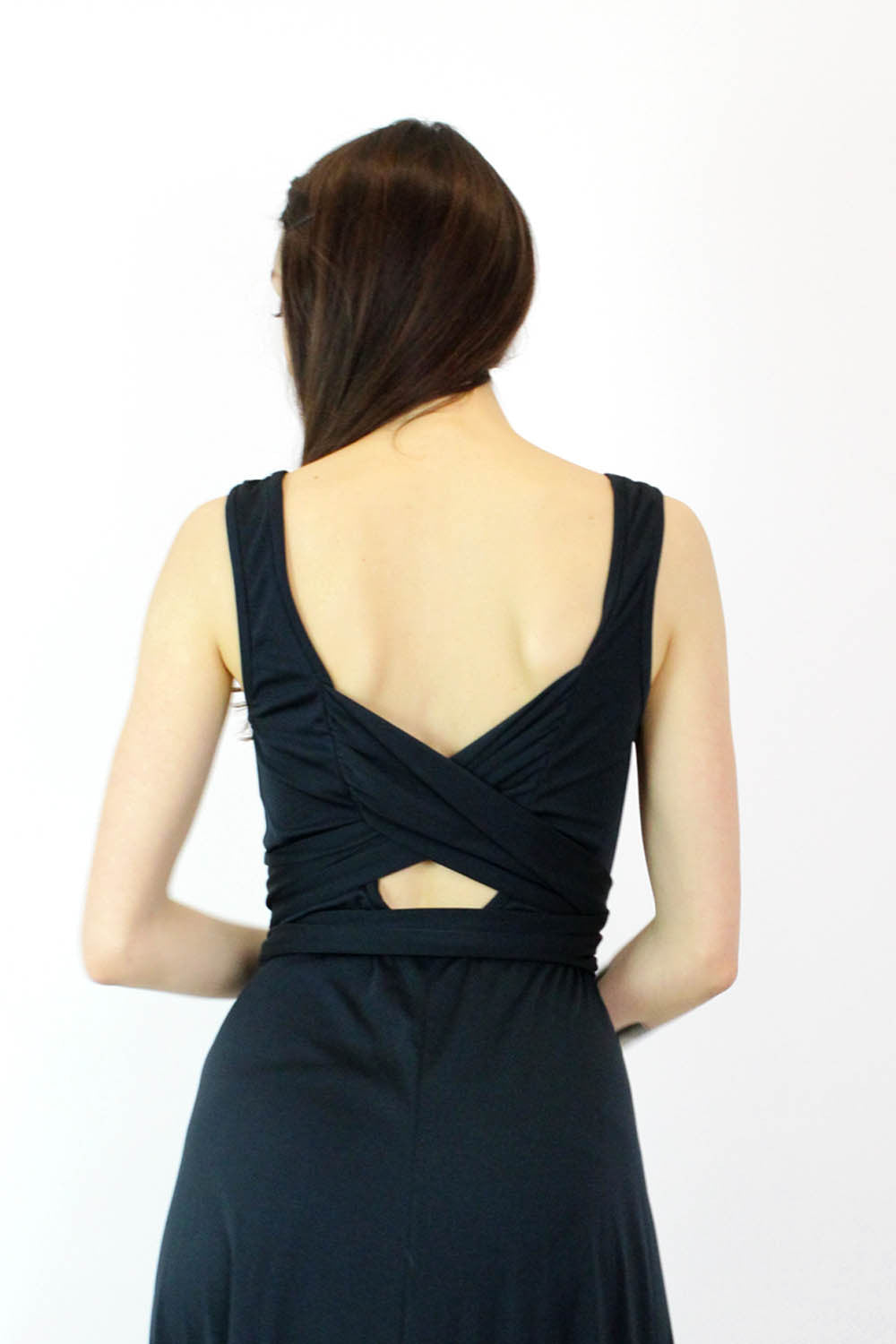 vintage open back dress