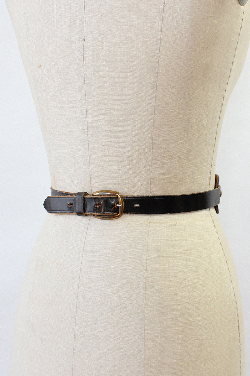 Black Buckle Handle Belt