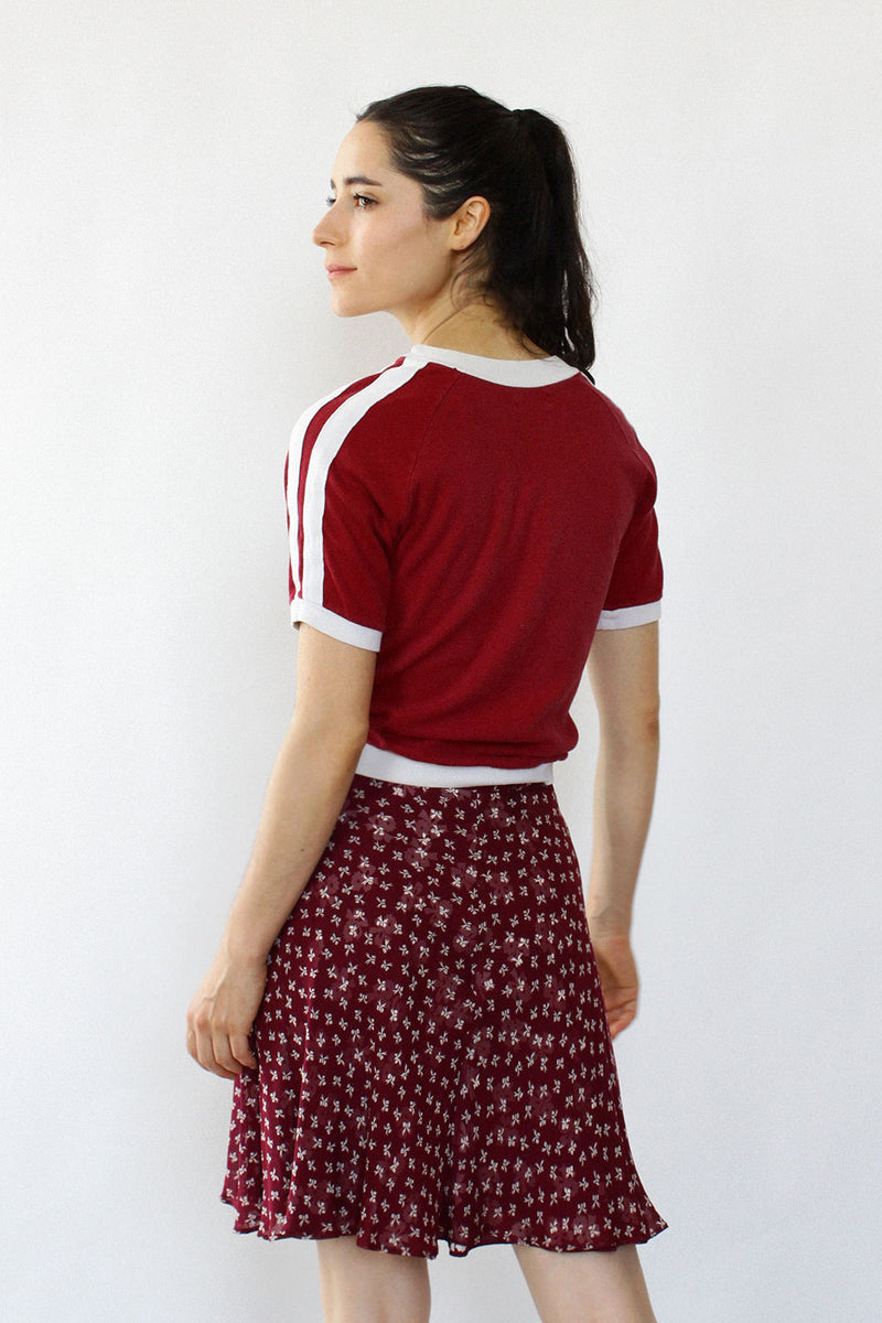 Crimson Bow Skirt XS