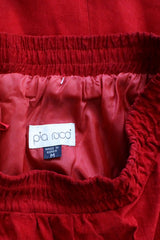 Ruby Red Suede Skirt M/L