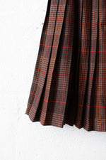 Picone Pleated Plaid Skirt XS