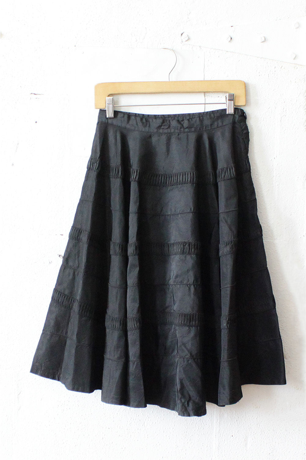 Ribboned Black Circle Skirt S/M