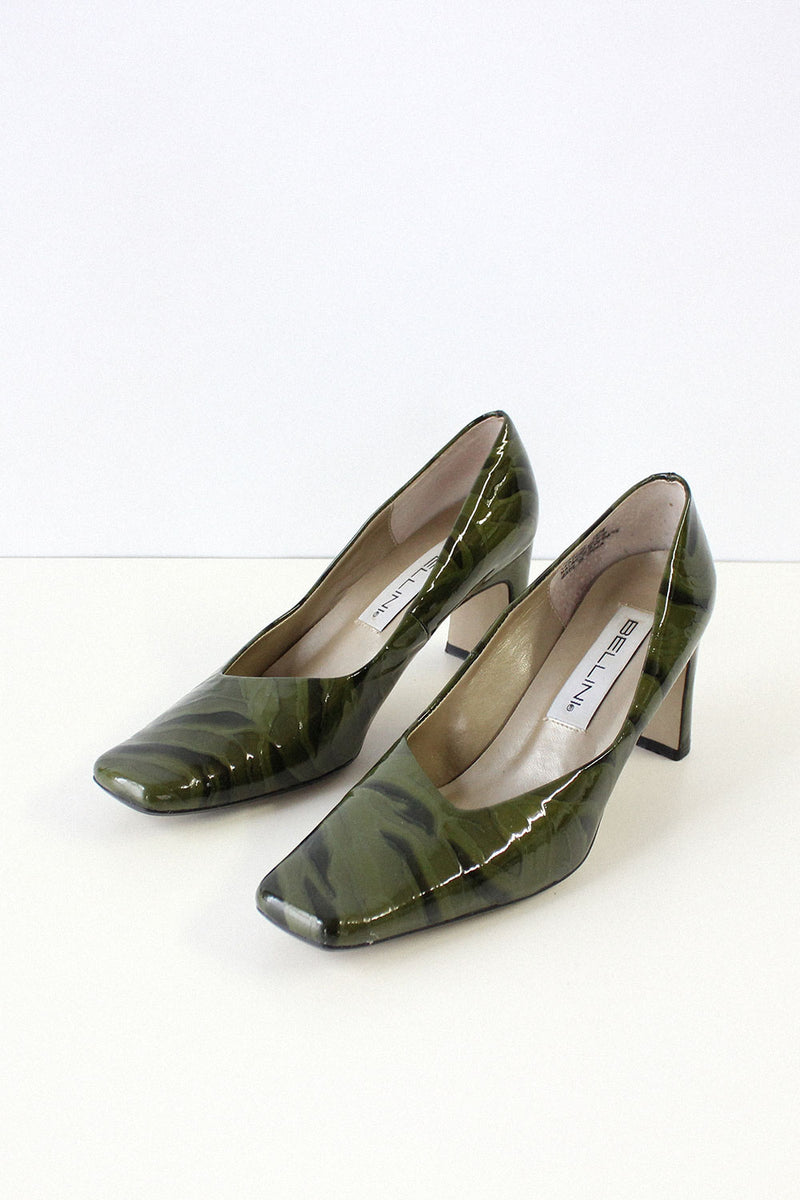 Moss Patent Leather Heels 7 1/2