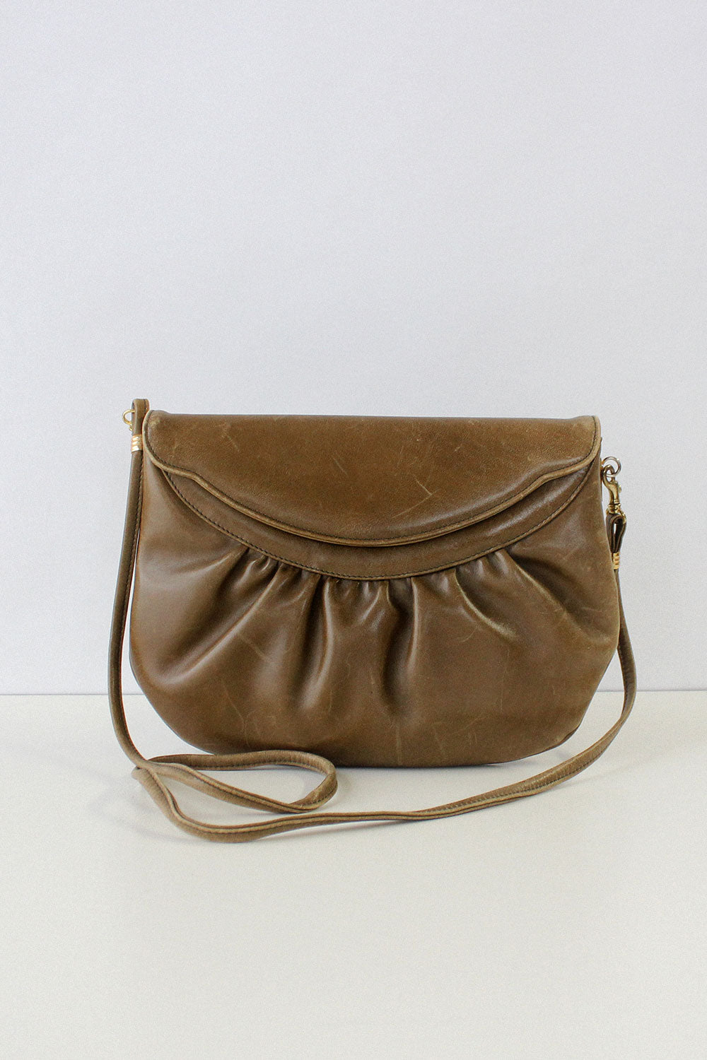 Olive Cinch Leather Bag