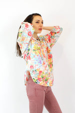 Tea Rose Cotton Slouchy Top S/M