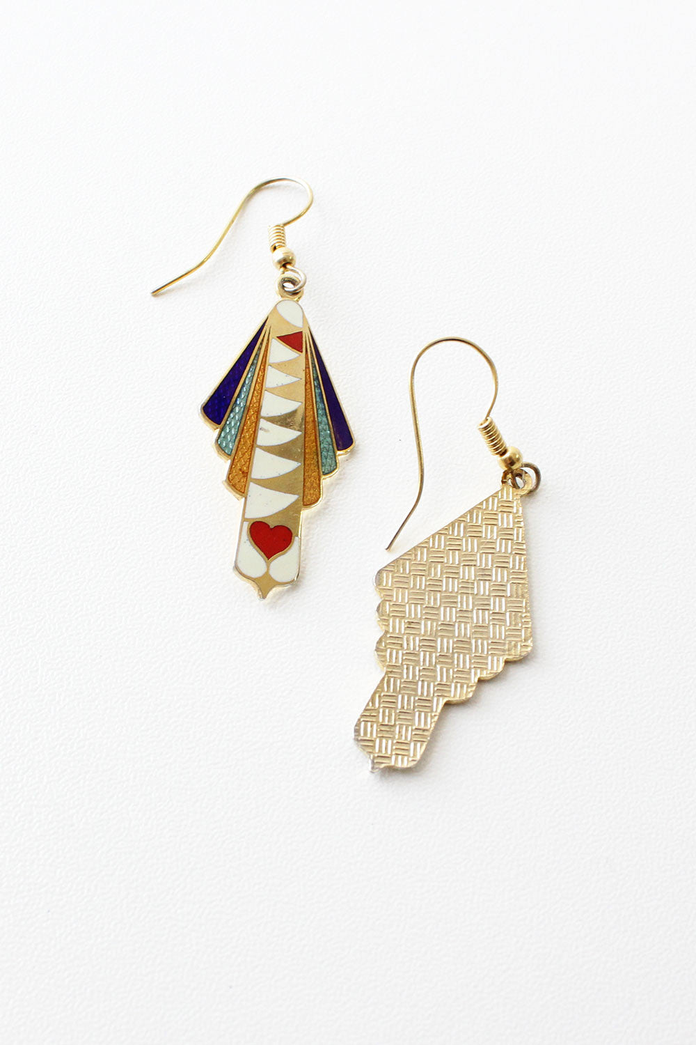 Enamel Deco Earrings