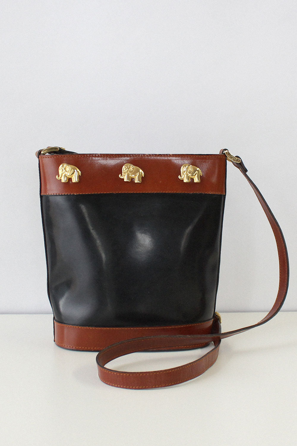 Elephants Crossing Bucket Bag