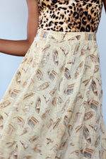 Hats Off Silk Skirt L