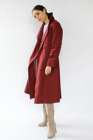 Braetan Burgundy Trench S