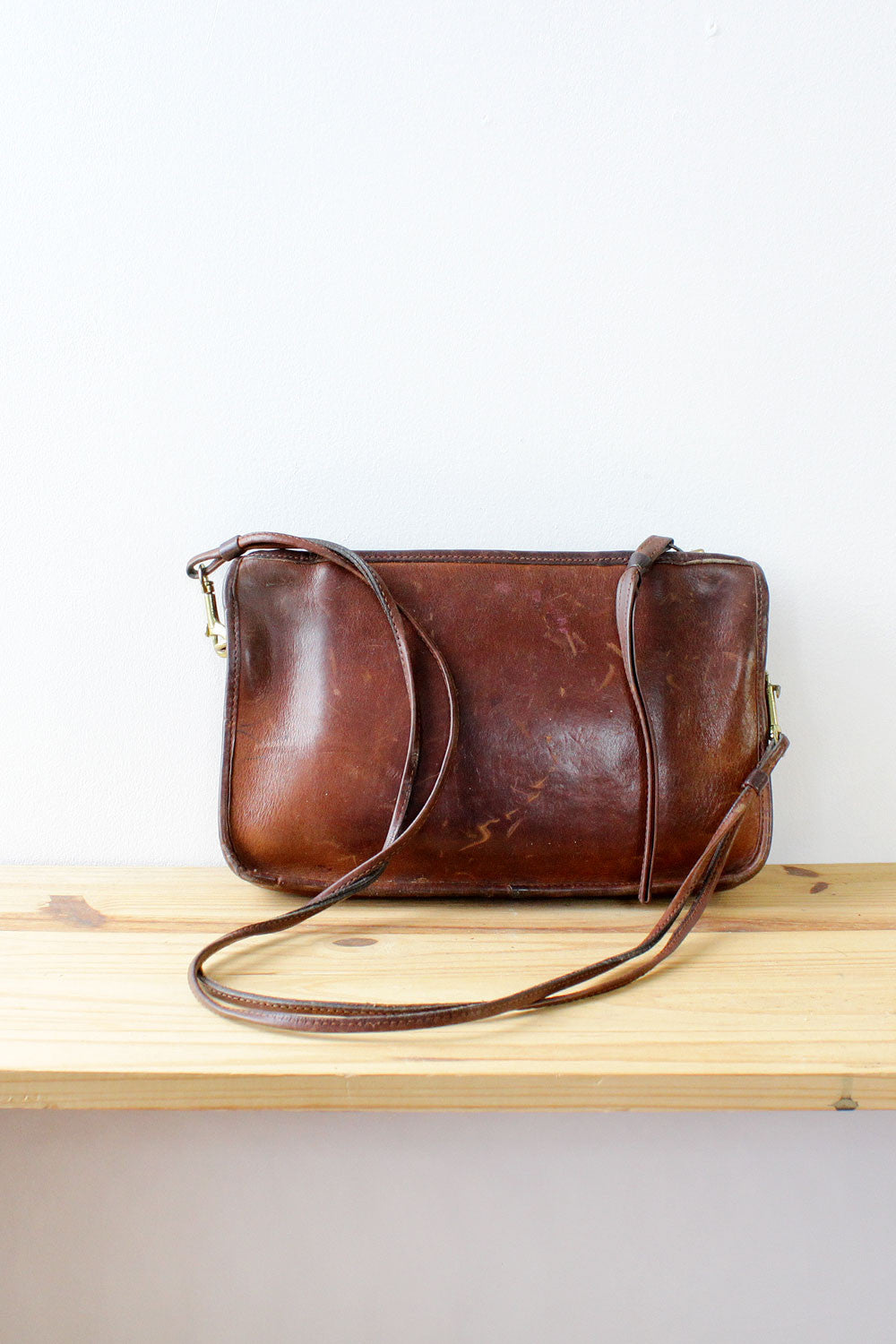 70s Coach NYC Chocolate Leather Bag