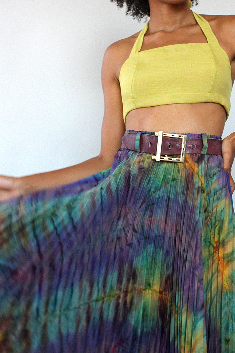 Accordion Pleat Tie Dye Skirt XS/S