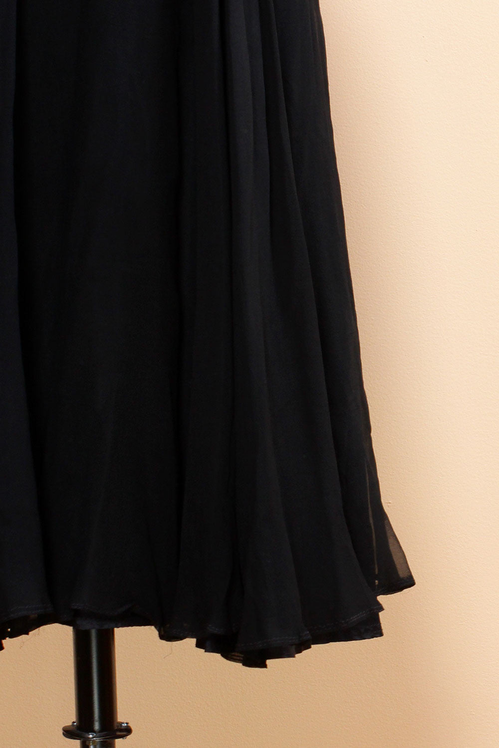 Noir Chiffon Flutter Dress S/M
