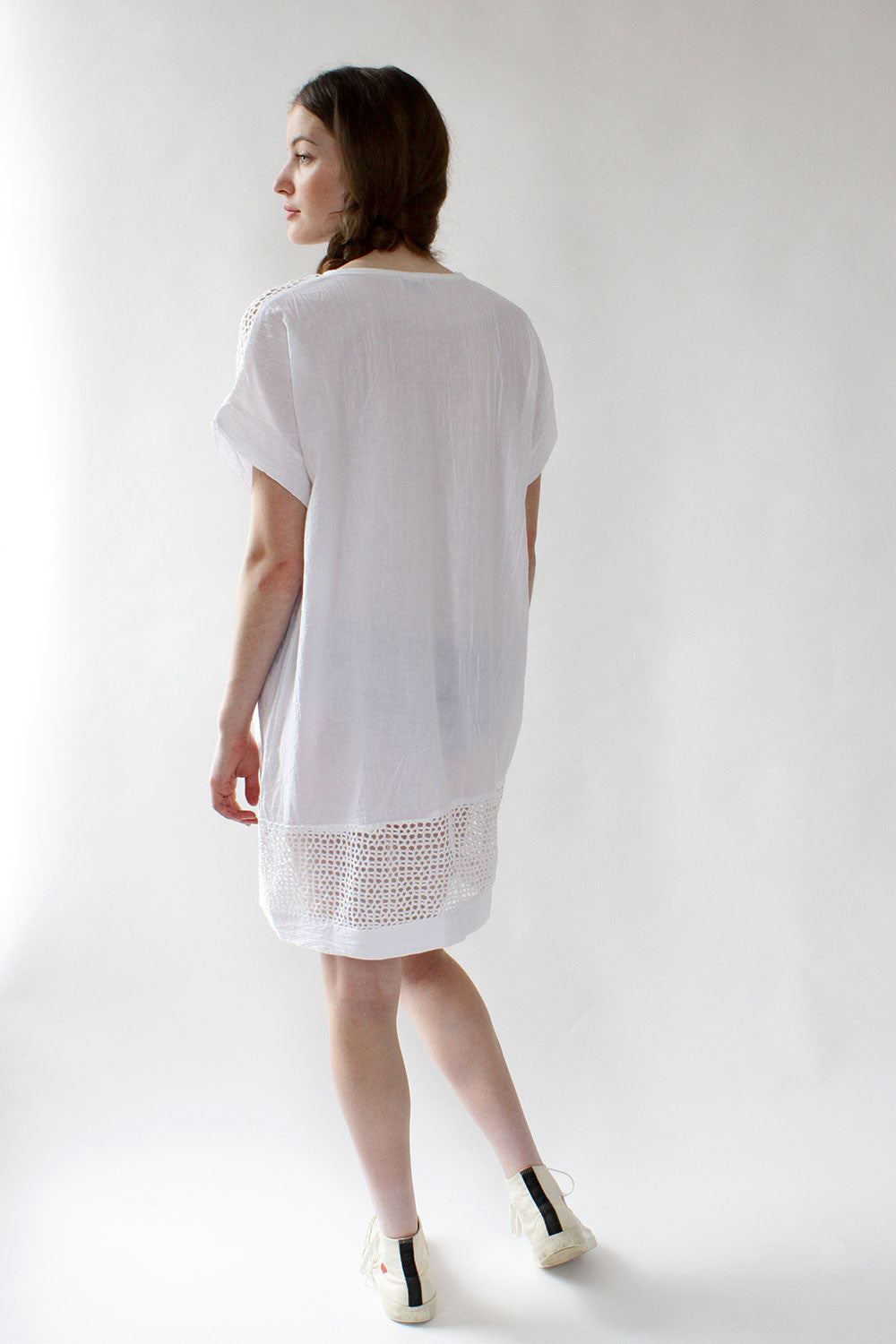 Caftan Mesh Mini Dress