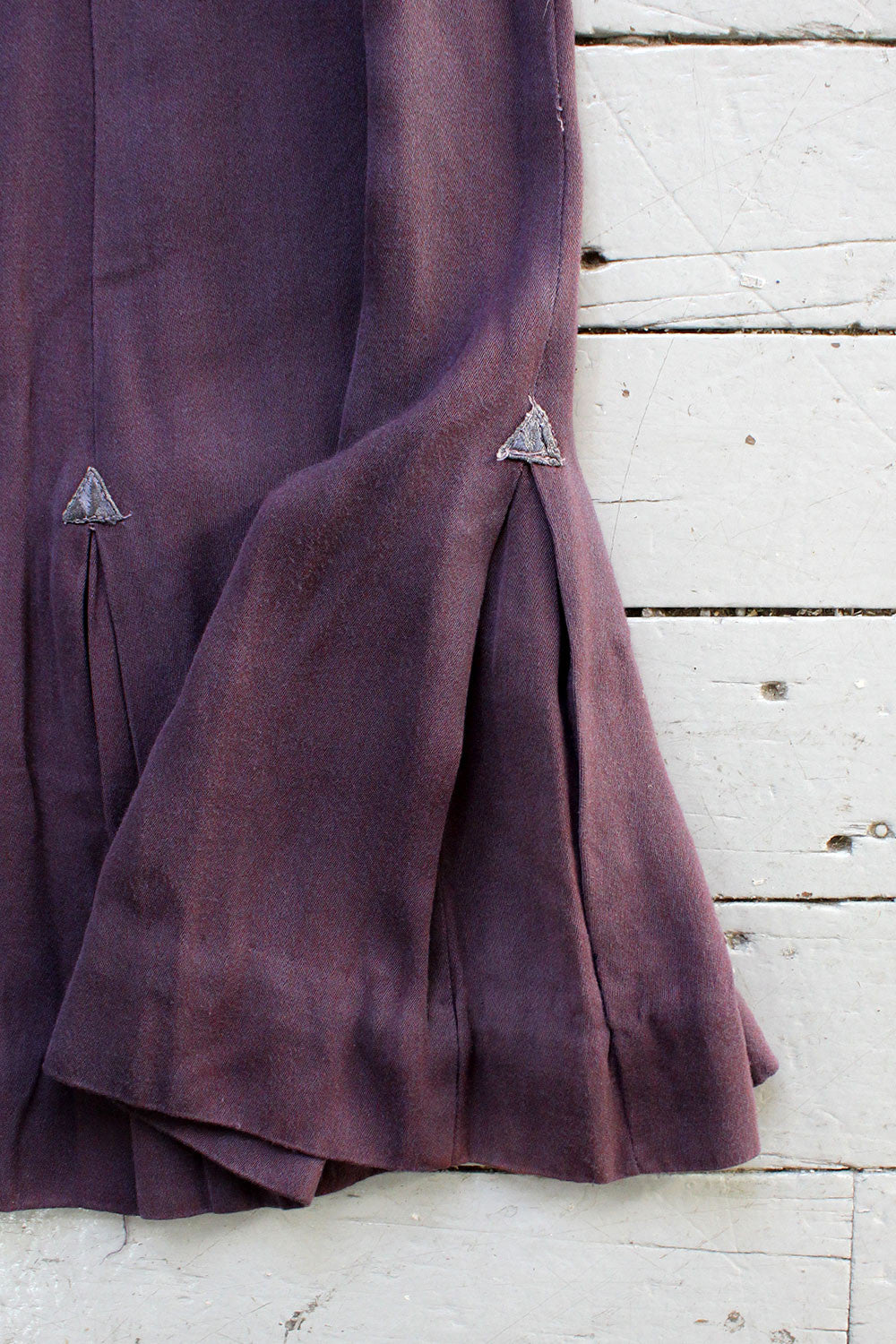 40s Purple Arrow Pleat Skirt XS/S