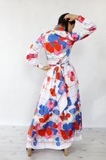 Anne Fogarty Floral Maxi Dress XS/S