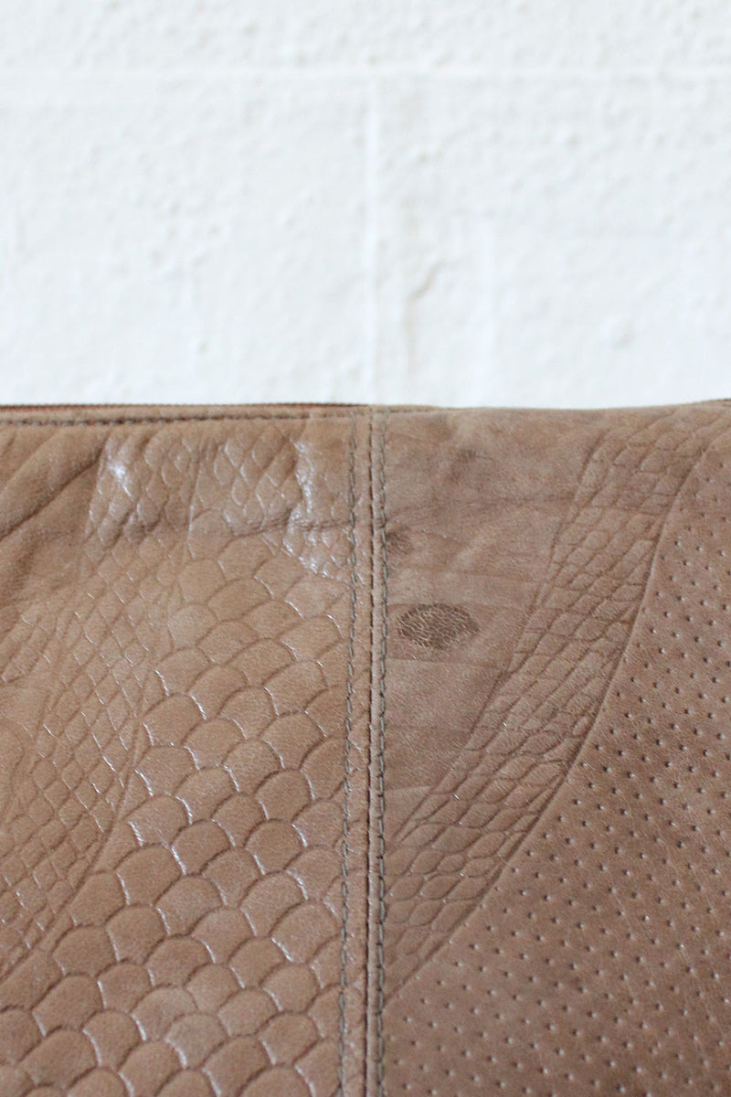 Mixed Embossed Clutch