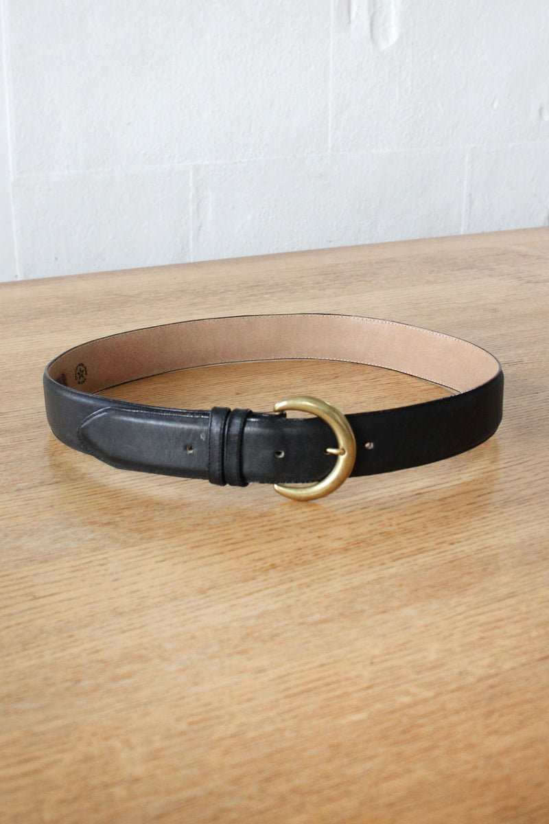 Charcoal Leather Belt
