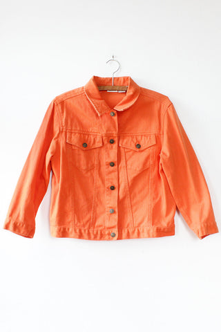 Orange Crush Jean Jacket M