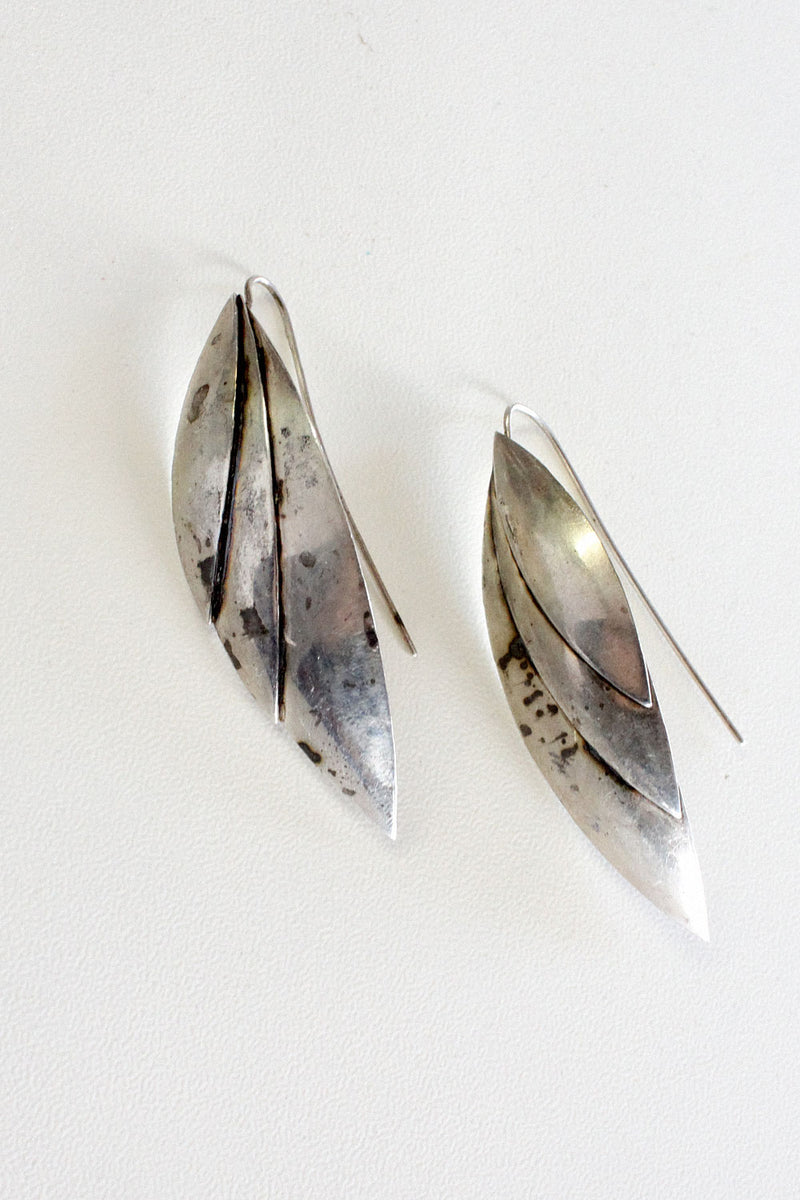 Sterling Feather Drops
