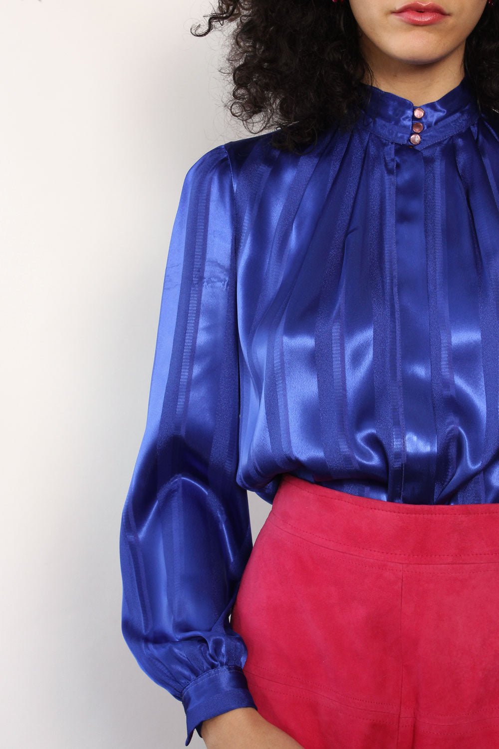 Lapis Silky Buttondown S/M