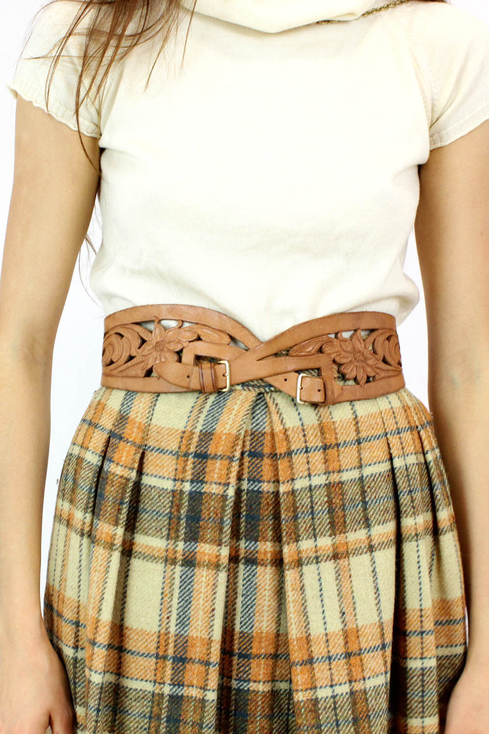 infinity tooled leather belt