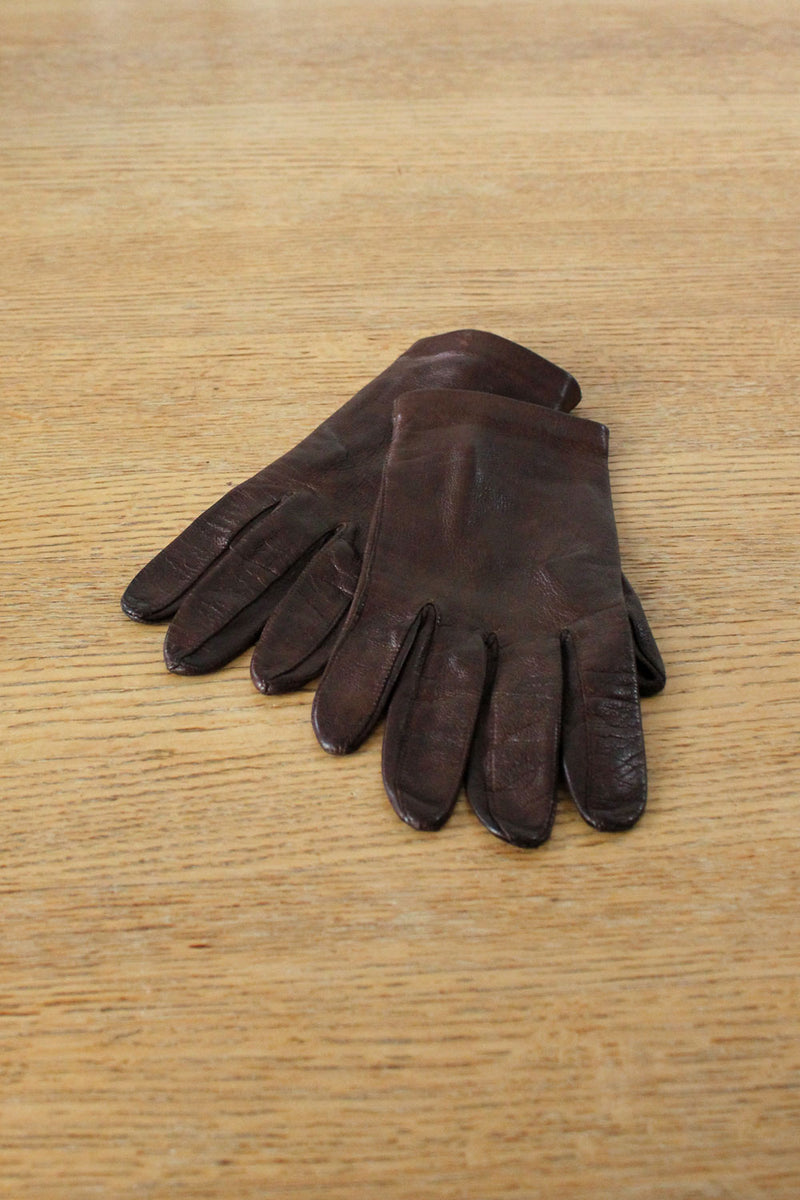 Carob Leather Gloves