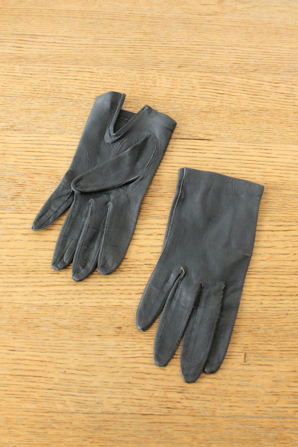 Slate Leather Gloves