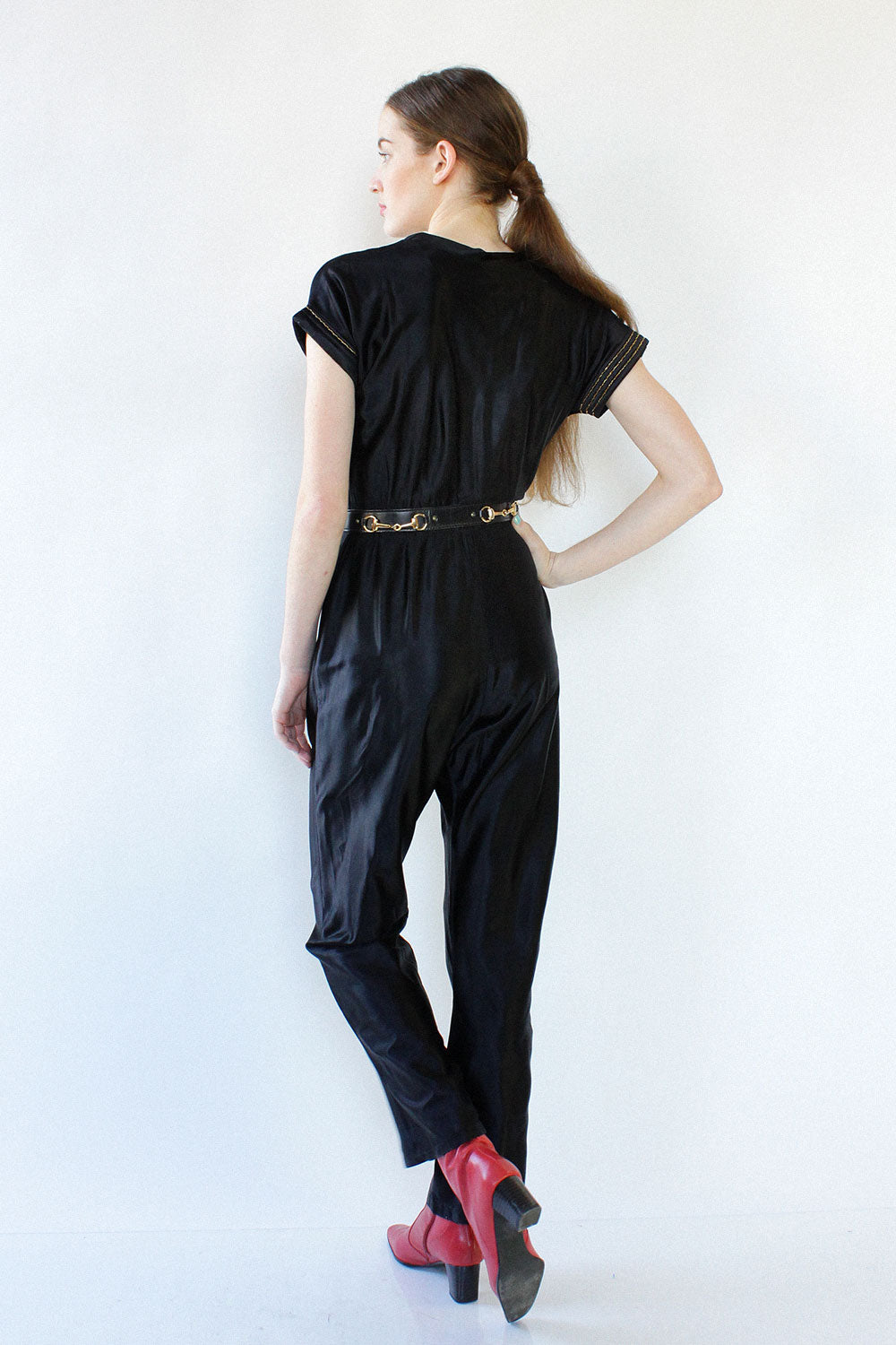 Champ Satin Wrap Jumpsuit S/M