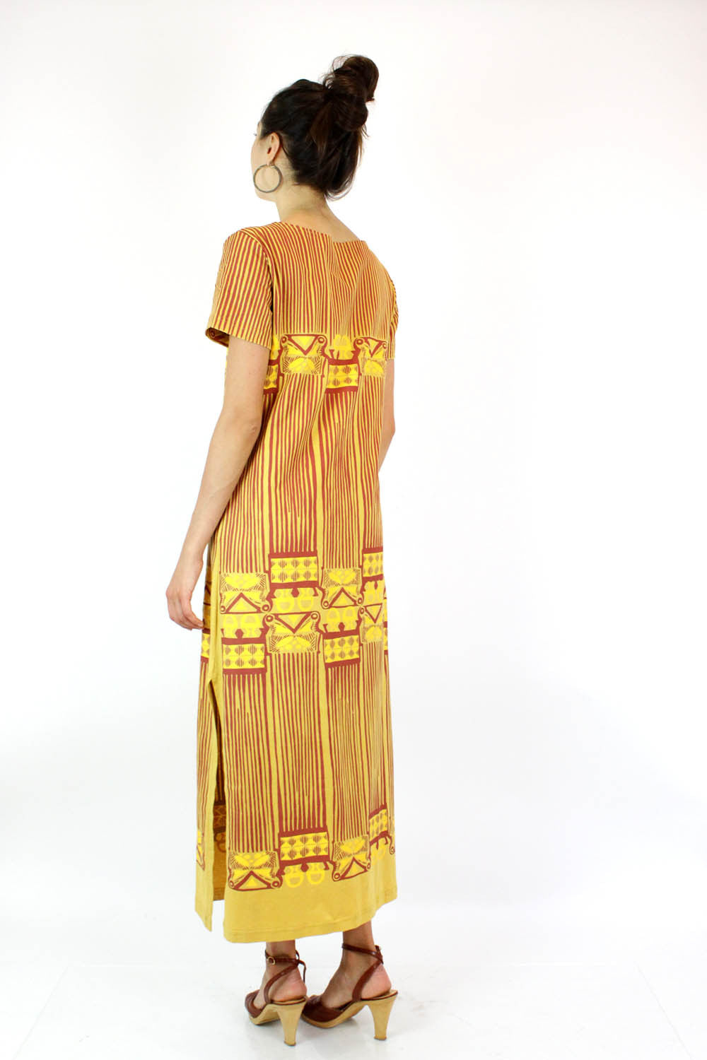 Saffron Tribal Maxi Dress S/M