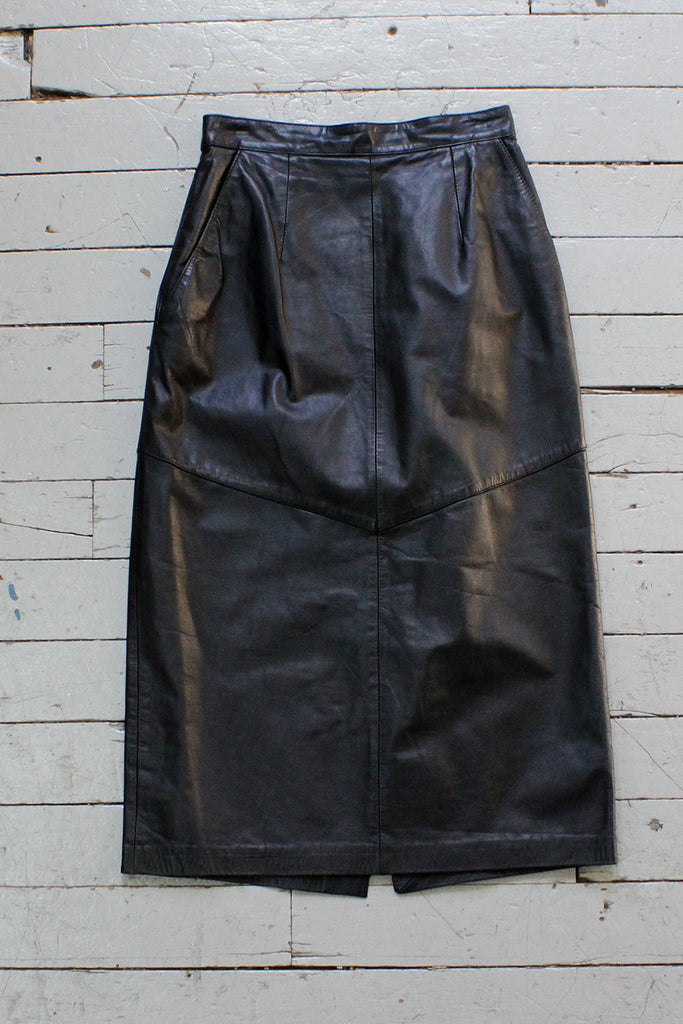 Nappa Leather Pencil Skirt S/M