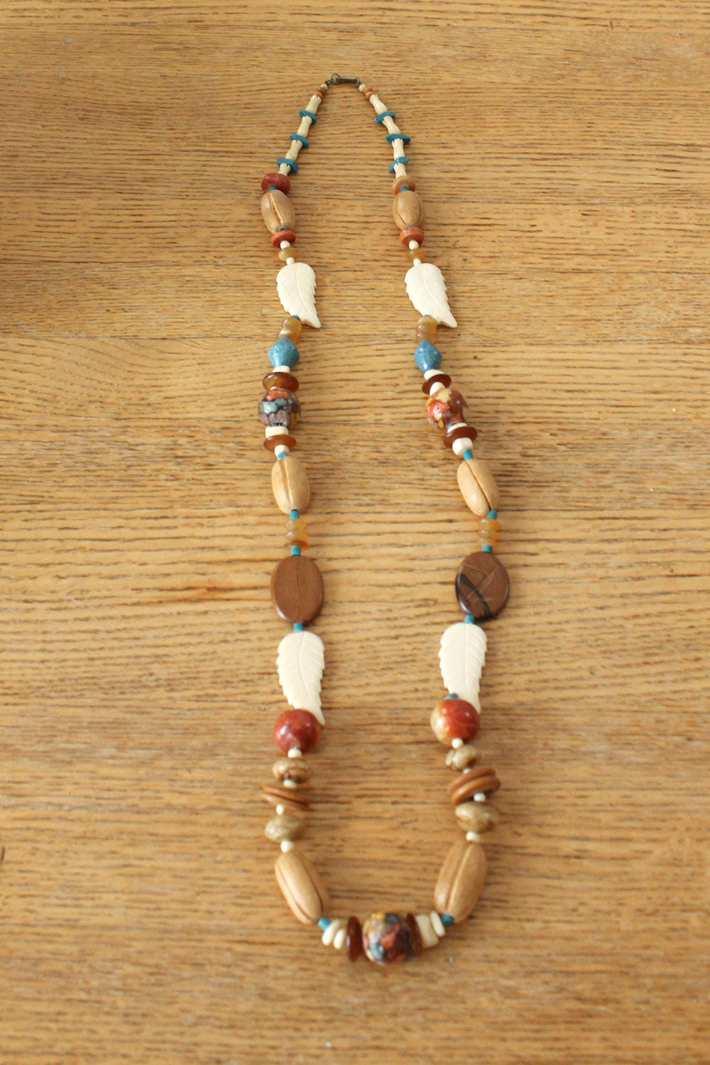 Dauplaise Beaded Feather Necklace