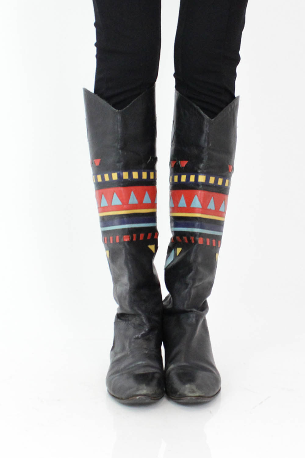 Woven Leather Boots 8.5
