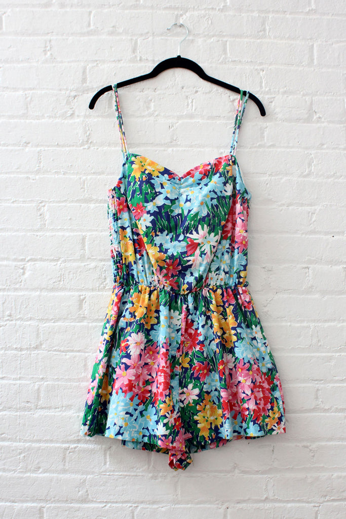 Garden Floral Playsuit L/XL