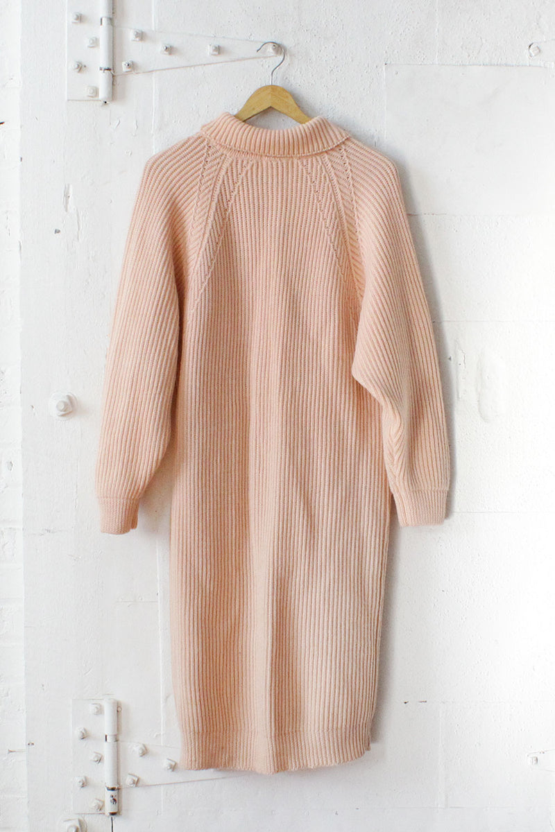 Blush Wool Sweater Dress S/M