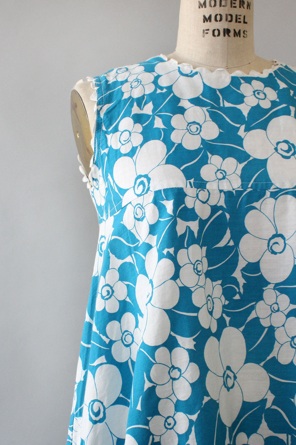 Aquamarine Floral Tent Dress S/M