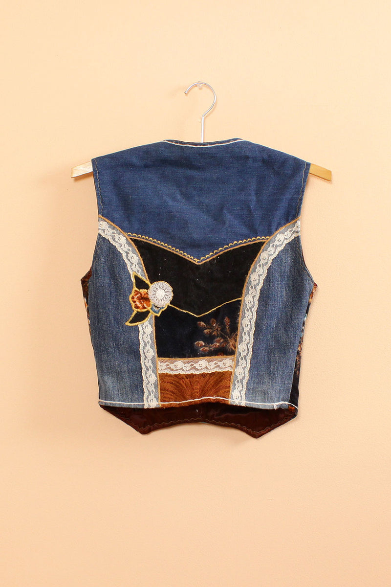 Collage Denim Vest S/M