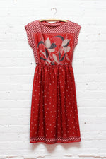 Cranberry Kerchief Dress S