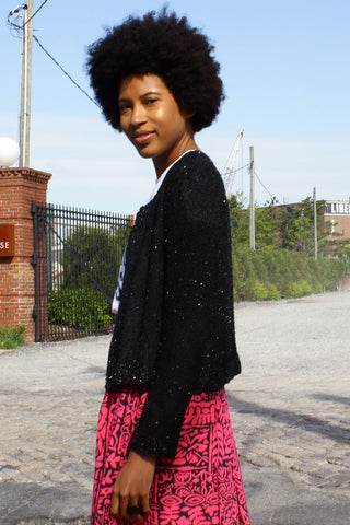 Boxy Beaded Jacket S/M