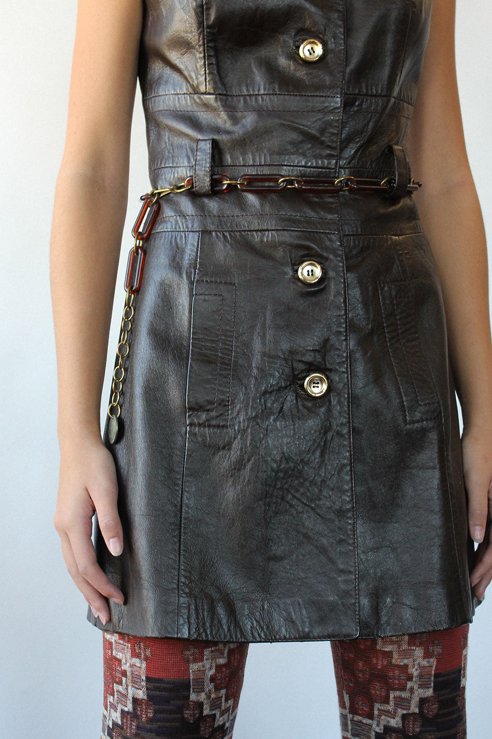 Walnut Brown Leather Dress S