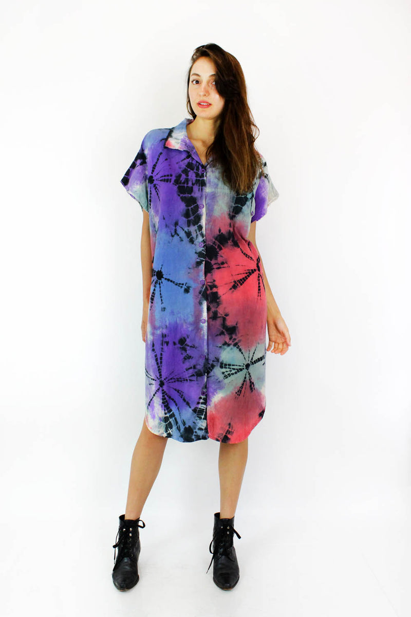 tie dye cotton dresses