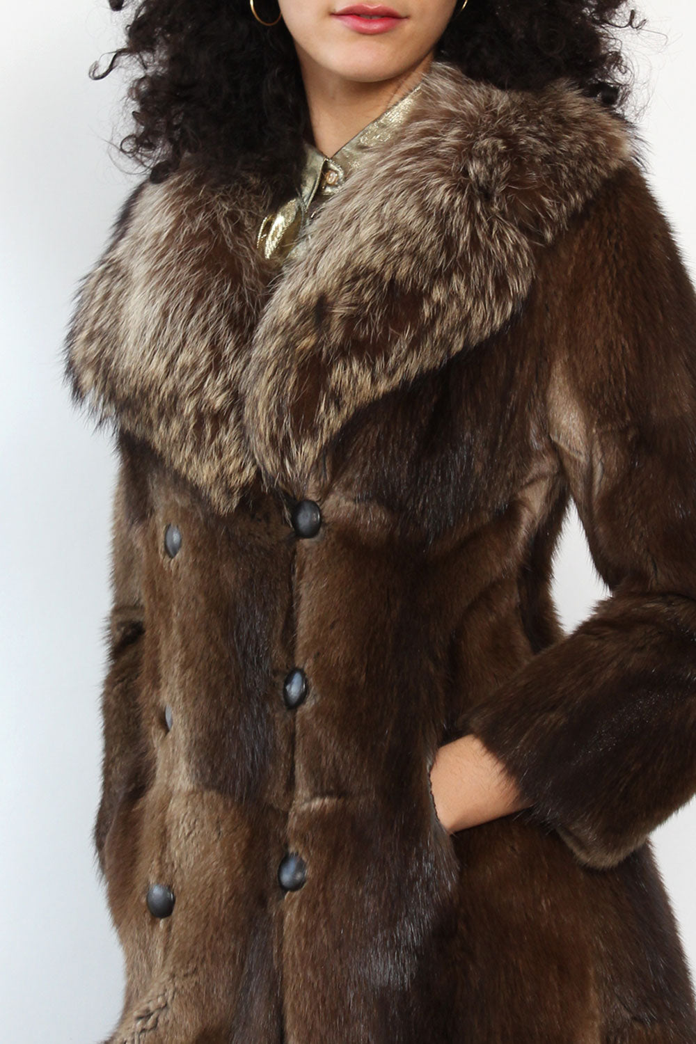 1970s Plainfield Beaver Fur Coat XS/S
