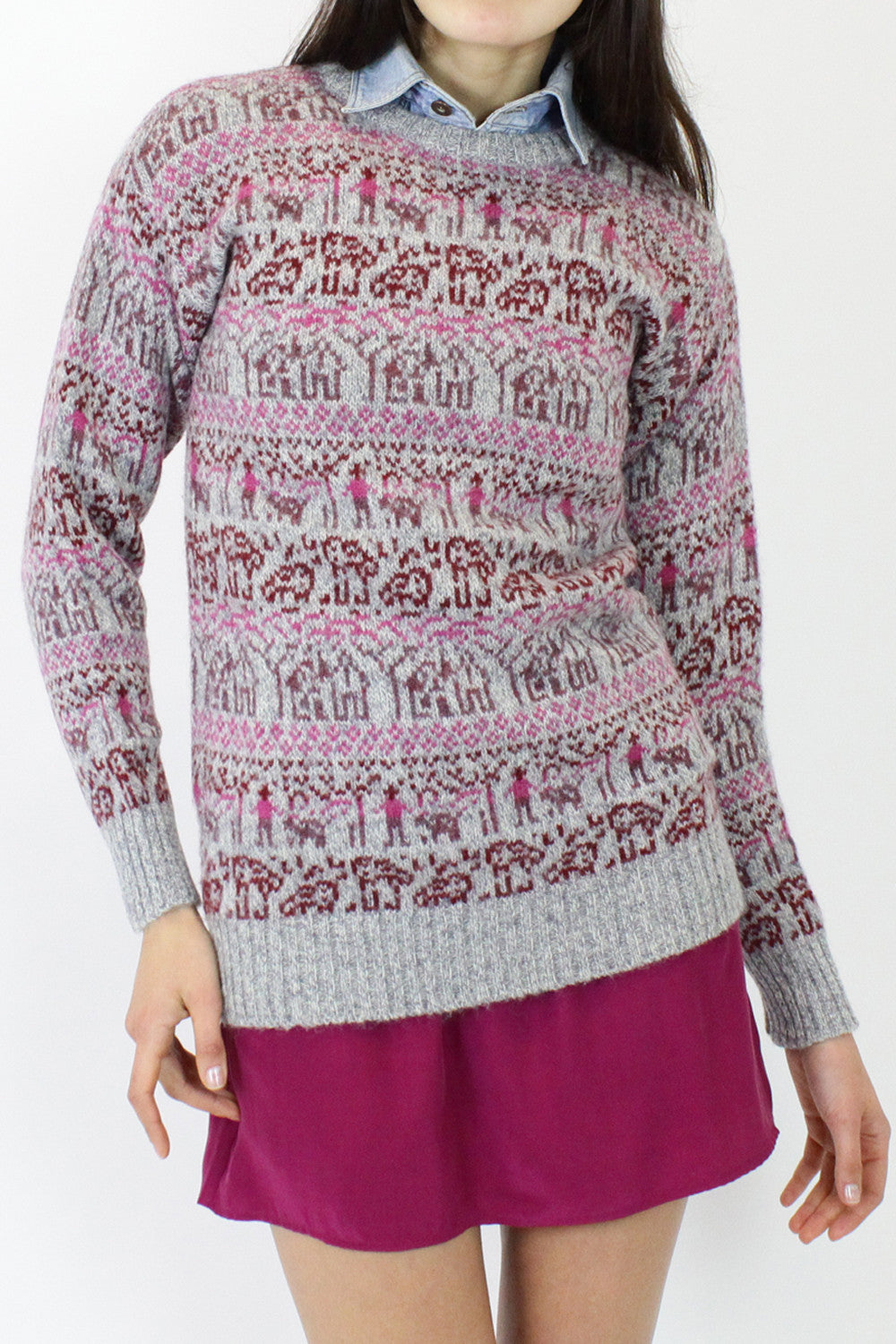 SALE...Fair Isle Wool Sweater XS