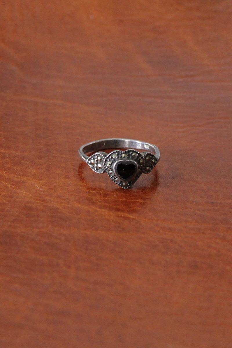 Marcasite Heart Ring