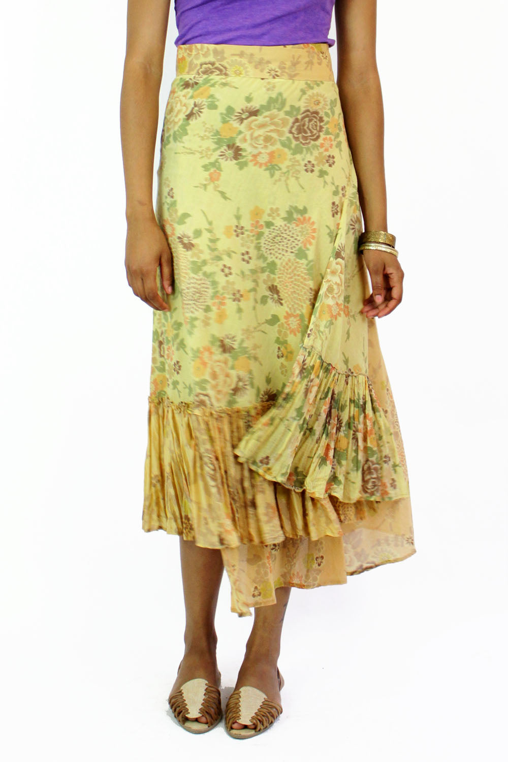 Dosa tea dyed skirt